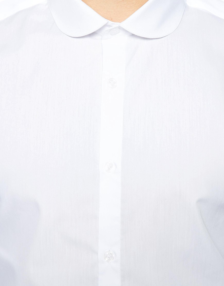Image 2 of River Island Penny Collar Shirt