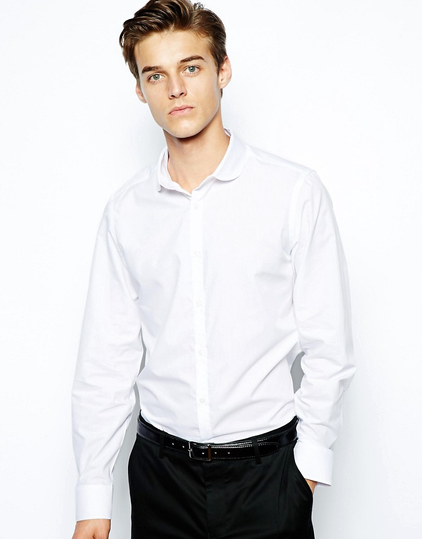 Image 1 of River Island Penny Collar Shirt