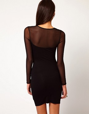 Image 2 ofASOS Mini Bodycon Dress In Baroque Glitter