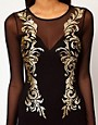 Image 3 ofASOS Mini Bodycon Dress In Baroque Glitter