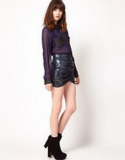 Stylestalker Brigitte Sequin Mini Wrap Skirt