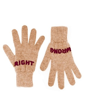 Image 1 ofDonna Wilson Exclusive to ASOS Right Wrong Gloves