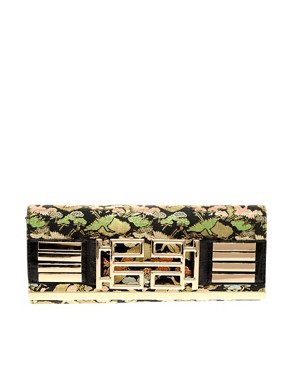 Image 1 ofRiver Island Oriental Deco Clutch