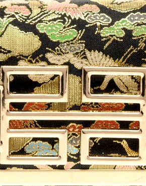 Image 2 ofRiver Island Oriental Deco Clutch