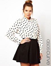 ASOS CURVE Exclusive Shirt in Rabbit Print