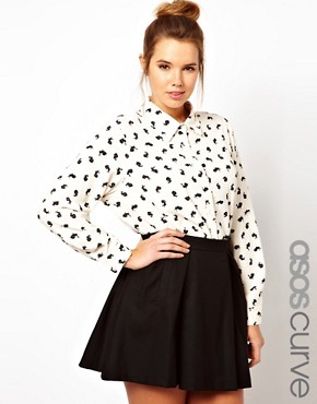 Image 1 of&#160;ASOS CURVE Exclusive Shirt in Rabbit Print