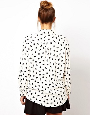 Image 2 ofASOS CURVE Exclusive Shirt in Rabbit Print