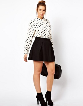 Image 4 ofASOS CURVE Exclusive Shirt in Rabbit Print