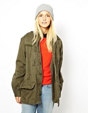Reclaimed Vintage Army Jacket in Stone Washed Khaki
