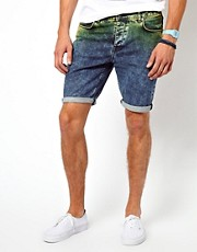 ASOS &ndash; Jeansshorts mit Batikeffekt