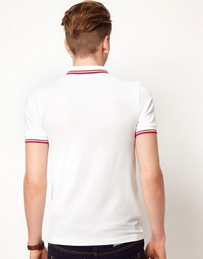 Image 2 ofFred Perry Slim Fit Small Collar Polo EXCLUSIVE TO ASOS