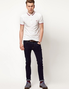 Image 4 ofFred Perry Slim Fit Small Collar Polo EXCLUSIVE TO ASOS