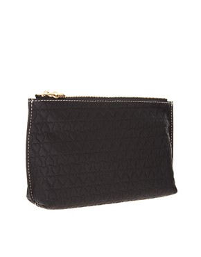 Image 2 ofTed Baker Leather Embossed Heart Make Up Bag With Mirror