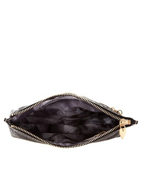 Image 4 ofTed Baker Leather Embossed Heart Make Up Bag With Mirror