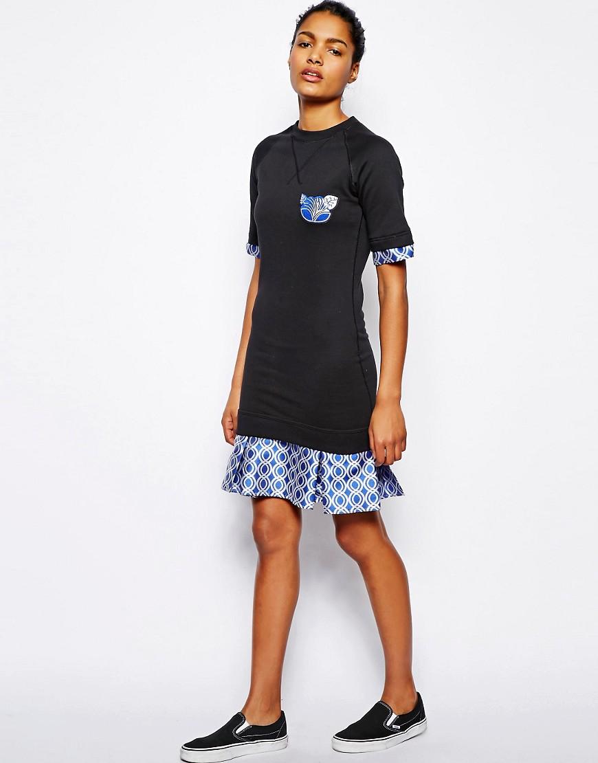 Image 4 ofOstwald Helgason Sweater Dress with Printed Hem