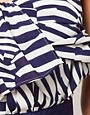 Image 3 ofASOS PETITE Exclusive Stripe Bandeau Playsuit