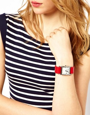 Image 3 ofMoschino Cheap &amp; Chic Leopard And Red Trim Scarf Watch