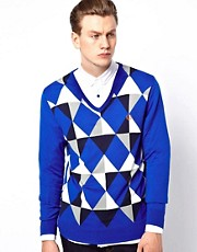 Fred Perry Jumper with Geometric Argyle