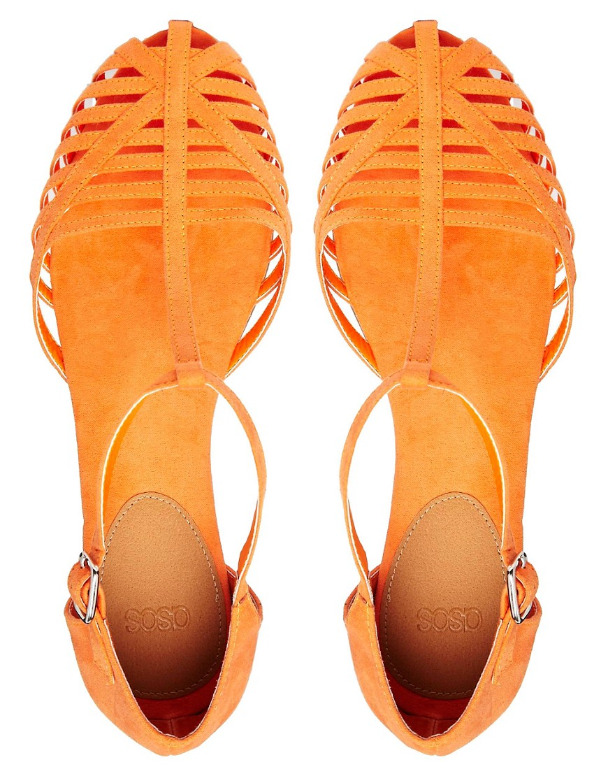 Image 3 of ASOS JUNIPER T-Bar Flat Shoes