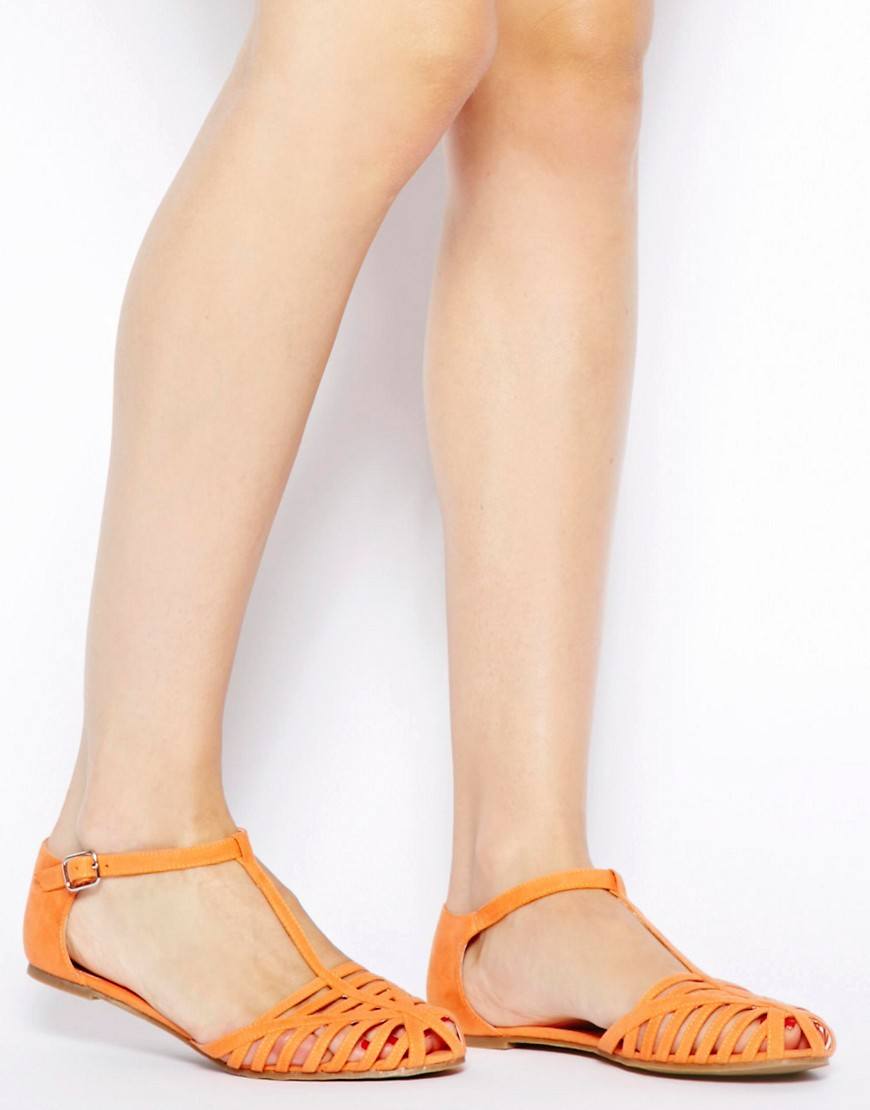 Image 4 of ASOS JUNIPER T-Bar Flat Shoes