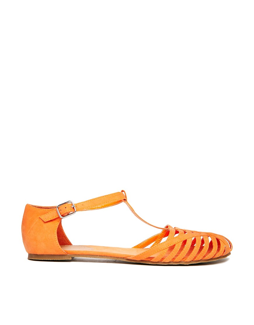 Image 1 of ASOS JUNIPER T-Bar Flat Shoes