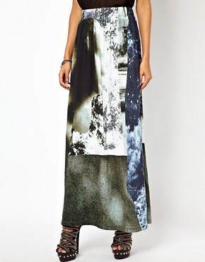 Image 4 ofDiesel Printed Maxi Skirt