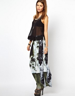 Image 1 ofDiesel Printed Maxi Skirt