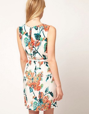 Image 2 ofOasis Botanical Silk Dress