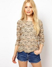 River Island Longsleeve Printed Bead Tee
