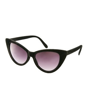 Image 1 of ASOS Velvet Cat Eye Sunglasses