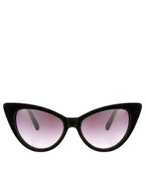 Image 2 of ASOS Velvet Cat Eye Sunglasses