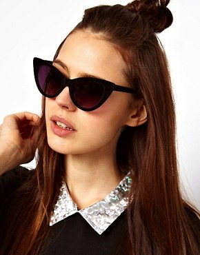 Image 3 of ASOS Velvet Cat Eye Sunglasses