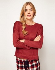 Oysho Ribbed Sleeve Knitted Top