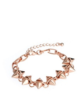 Image 1 ofASOS Double Spike Bracelet