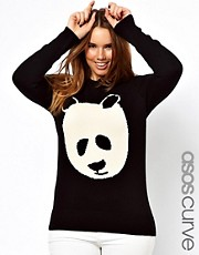 ASOS CURVE Paul The Panda Sweater