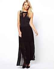 Oasis Lace Trim Maxi Dress