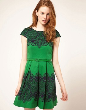 Image 1 ofOasis Placement Lace Dress