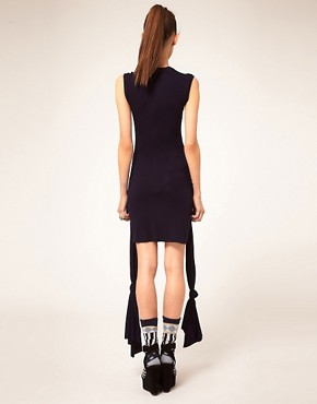 Image 2 ofDanielle Scutt Dress Jersey With Knot Detail
