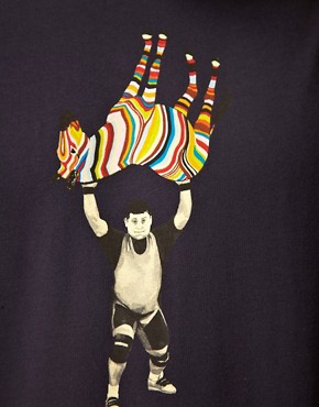 Bild 3 von Paul Smith Jeans  Weight Lifting Zebra  Eng anliegendes T-Shirt