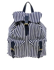 Pieces Gytas Canvas Stripe Backpack
