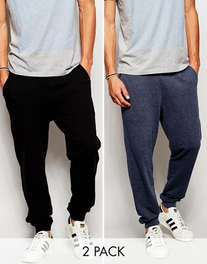 ASOS 2 Pack Slim Joggers SAVE 17%