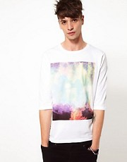ASOS 3/4 Sleeve T-Shirt With Photographic Print