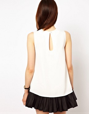 Image 2 ofASOS PETITE Exclusive Swing Dress with Ruffle Hem