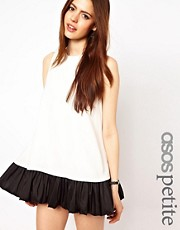 ASOS PETITE Exclusive Swing Dress with Ruffle Hem