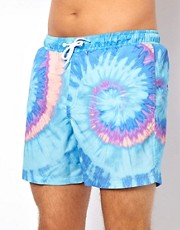ASOS Swim Shorts With Tie Dye