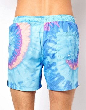 Image 2 ofASOS Swim Shorts With Tie Dye