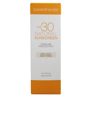 Image 2 ofbareMinerals Natural Suncreen SPF 30 - Light Skin Tones 4ml