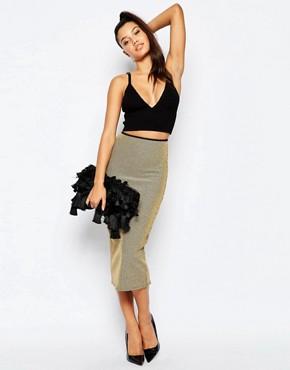 Missguided Rib Midi Skirt