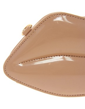 Image 4 ofALDO Chevez Lips Patent Clutch Bag