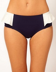 Marc By Marc Jacobs Colour Blocking Peplum Hipster Bottom